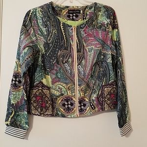 Multi colored lightweight bomber jacket